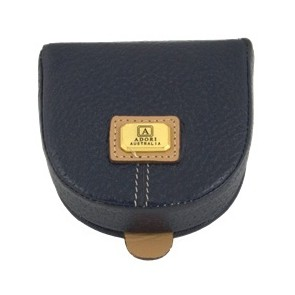 Genuine Leather Flip Up Coin Purse by Adori Leather