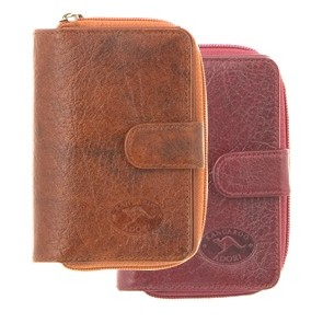 Genuine Leather Key Holder with Coin Purse by Adori Leather