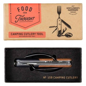 Camping Cutlery Tool with Acacia Handle by Gentlemen's Hardware - 1