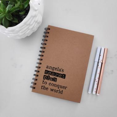 Secret Plan - Personalised Hardcover Spiral Notebook - 1