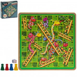 Retro Snakes and Ladders Set - 20cm - 1