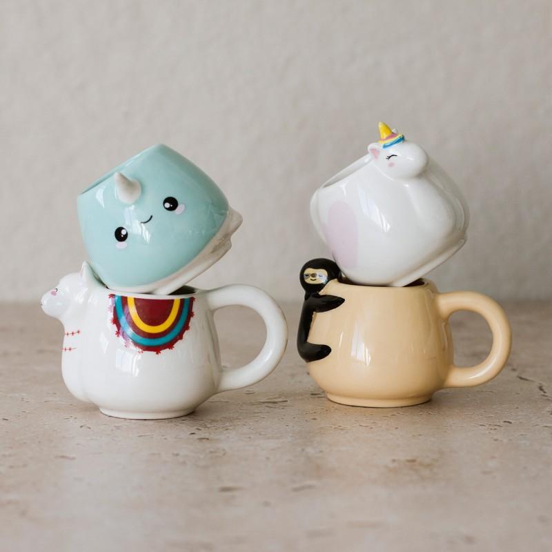 Animal Espresso Mug Set - Set of 4 - 1