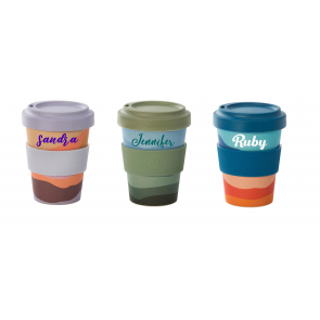 Personalised Bamboo Fibre Eco Travel Cup 500ml - 1
