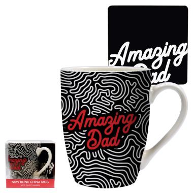 Amazing Dad Mug and Coaster Set - 1