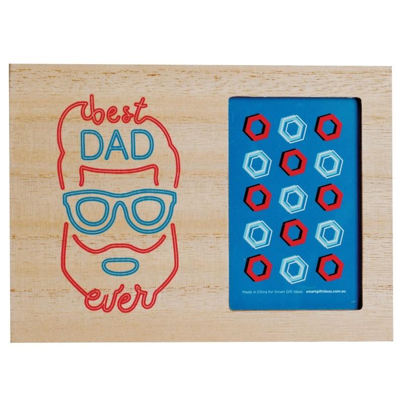 Best Dad Ever Desktop Photo Frame - 1
