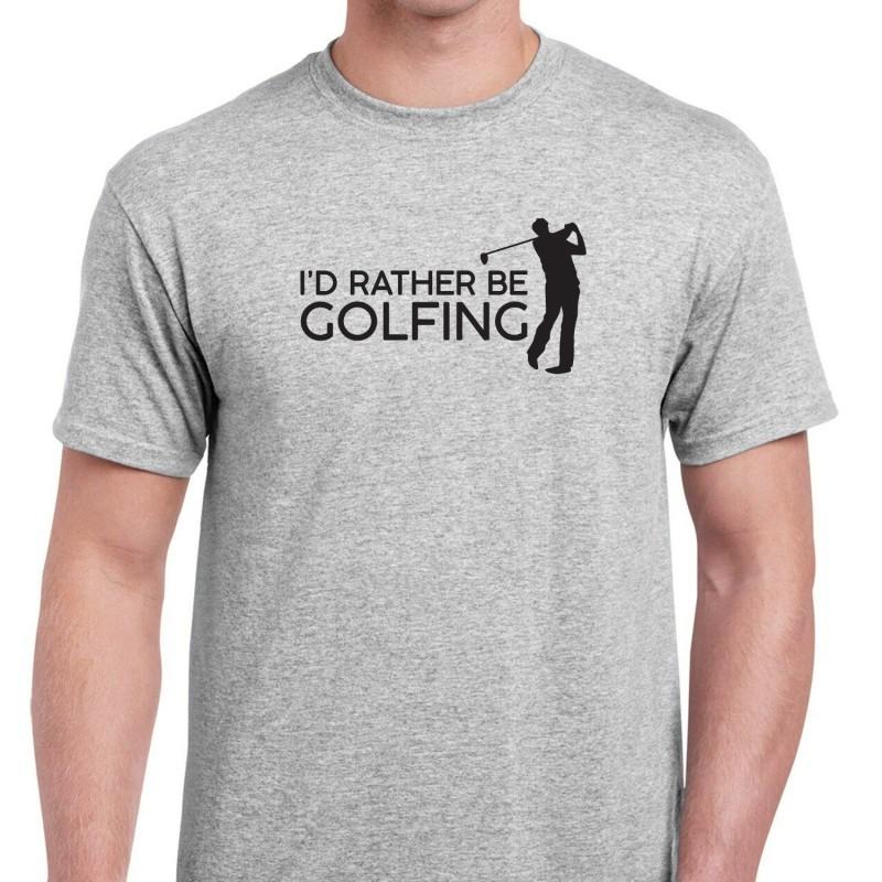 I'd Rather Be Golfing T-Shirt - 1