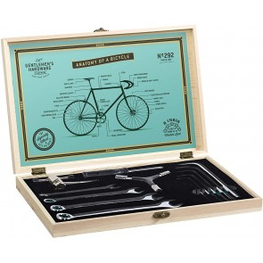 Bicycle Tool Kit with Stainless Steel Tools in Wooden Box by Gentlemen's Hardware - 1