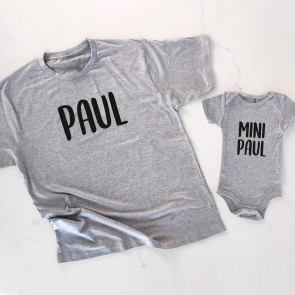 Personalised Me & Mini Me Father and Son Matching T-Shirt - 2