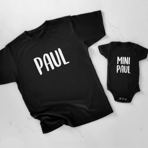 Personalised Me & Mini Me Father and Son Matching T-Shirt - 1