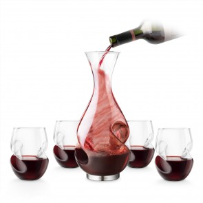 L'Grand 5 Piece Conundrum Aerator Decanter Set by Final Touch - 1