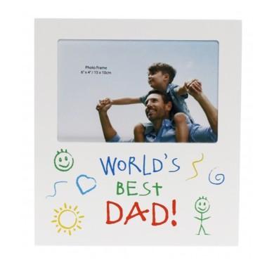World's Best Dad Kid Art Photo Frame - 1