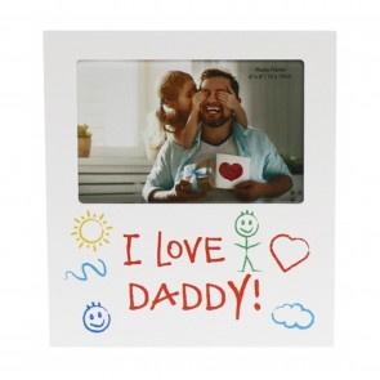 I Love Daddy Kid Art Photo Frame - 1