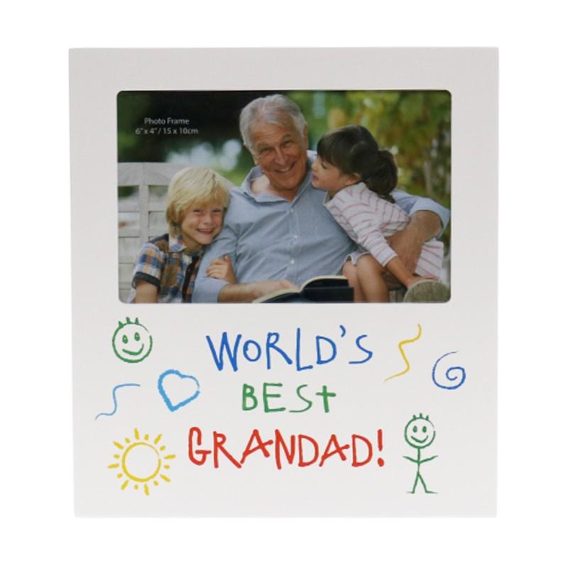 World's Best Grandad Kid Art Photo Frame - 1
