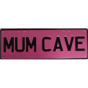 Mum Cave Novelty Number Plate
