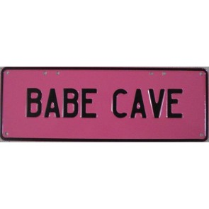 Babe Cave Novelty Number Plate