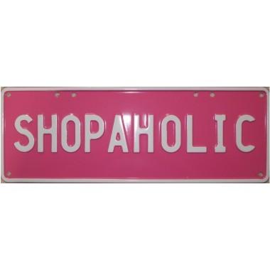 Shopaholic Novelty Number Plate