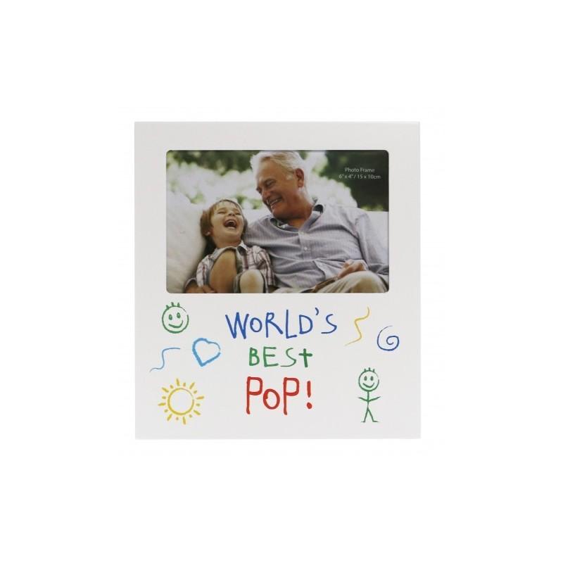 World's Best Pop Kid Art Photo Frame - 1