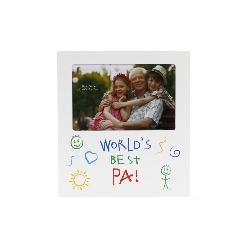 World's Best Pa Kid Art Photo Frame - 1