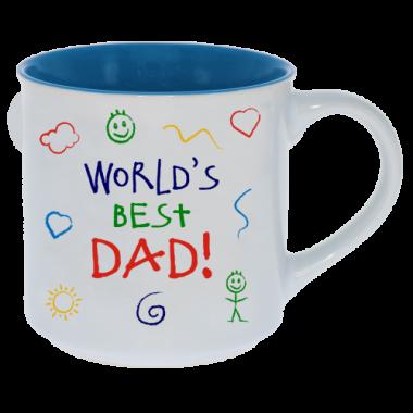 World's Best Dad Kid Art Mug - 1