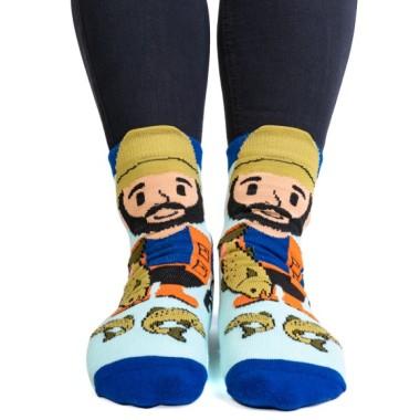 Totally Hooked Fisherman Feet Speak Socks - 1