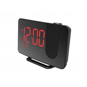 Projection LED Radio Clock with USB Mobile Charger - 1