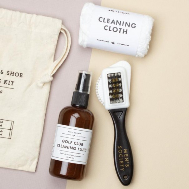 Golf Club and Shoe Cleaning Kit by Men's Society - 1