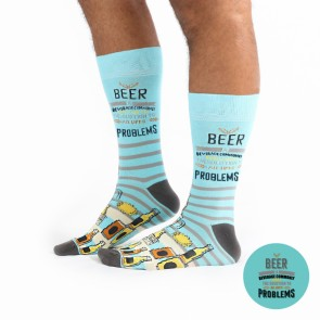 Beer The Solution To All Life's Problems Socks - Wise Men Socks - 1