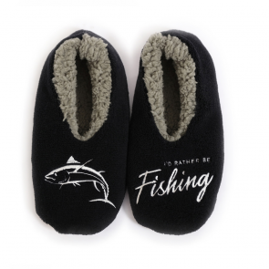 Sploshies I'd Rather Be Fishing Men's Duo Slippers - 1