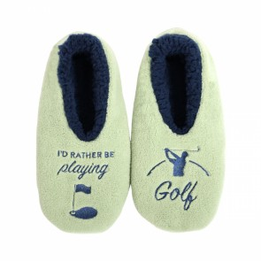 Sploshies I'd Rather Be Playing Golf Men's Duo Slippers - 1