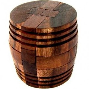 Wine Barrel  Wooden Puzzle