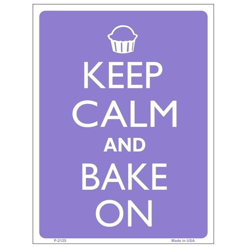 Keep Calm and Bake On Tin Sign