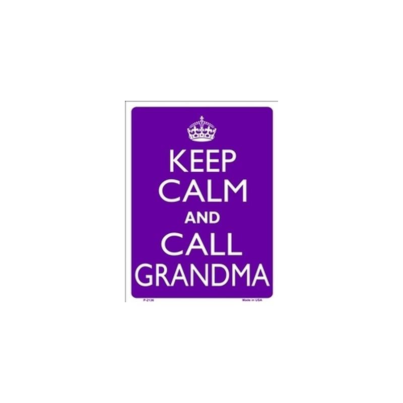 Keep Calm and Call Grandma Tin Sign