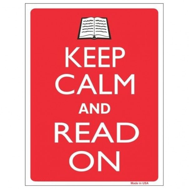 Keep Calm and Read On Tin Sign
