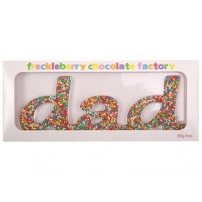 Dad Chocolate Freckles Word