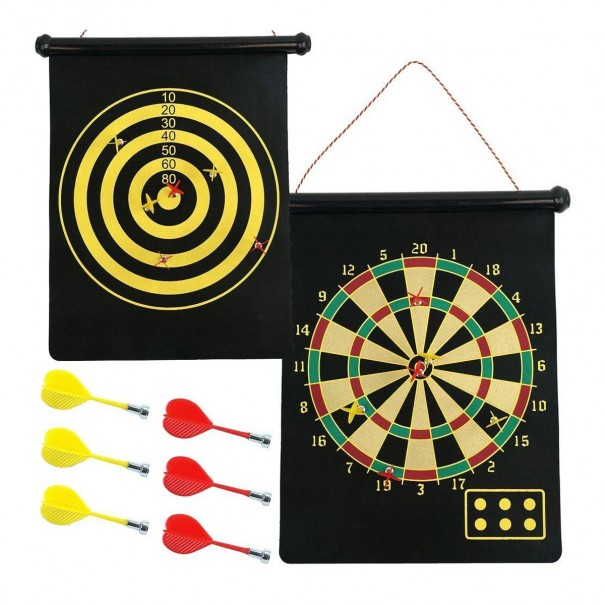 Roll Up Magnetic Dartboard & Bulls Eye
