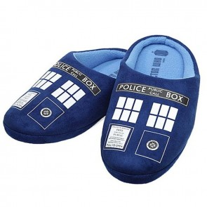Doctor Who - TARDIS Printed Mens Slippers
