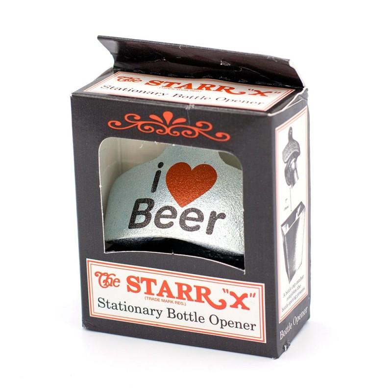 I Love Beer Wall Mounted Bottle Opener