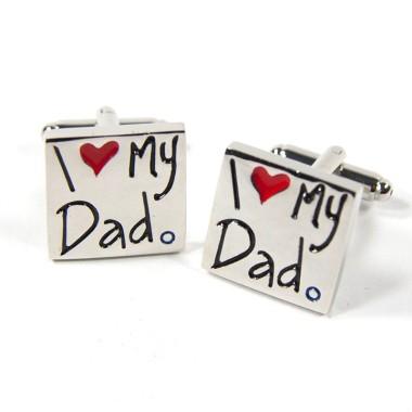 I Love My Dad Cufflinks with Box
