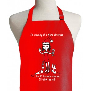 White Christmas Red Apron