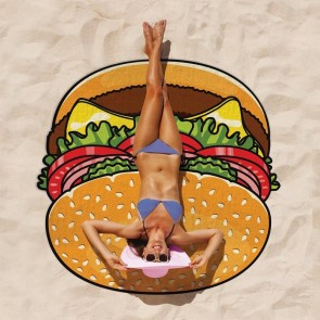 Gigantic Burger Beach Towel
