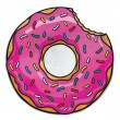 Gigantic Frosted Donut Beach Towel