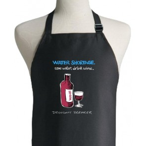 Save Water Drink Wine Apron