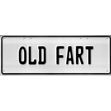Old Fart Novelty Number Plate