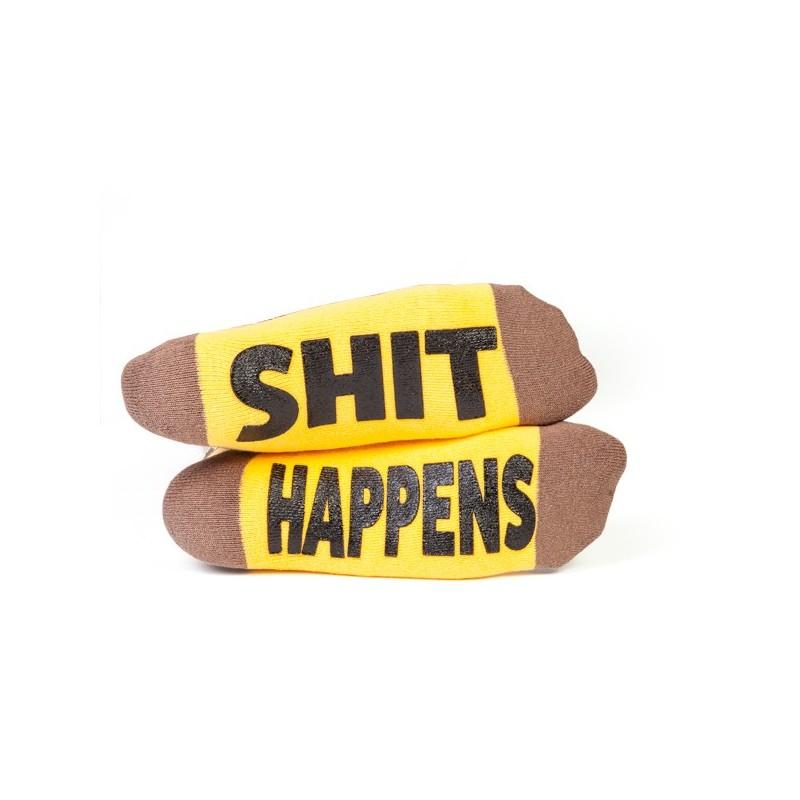 Poo Emoji Sh#t Happens Socks - Yellow Octopus |Poo Happens Game