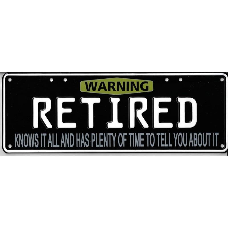 Retired Novelty Number Plate
