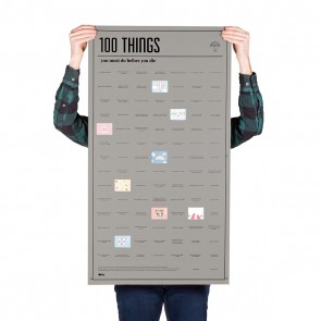 100 Things You Must Do Before You Die Poster by DOIY