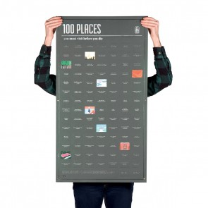 100 Places You Must Visit Before You Die Poster by DOIY