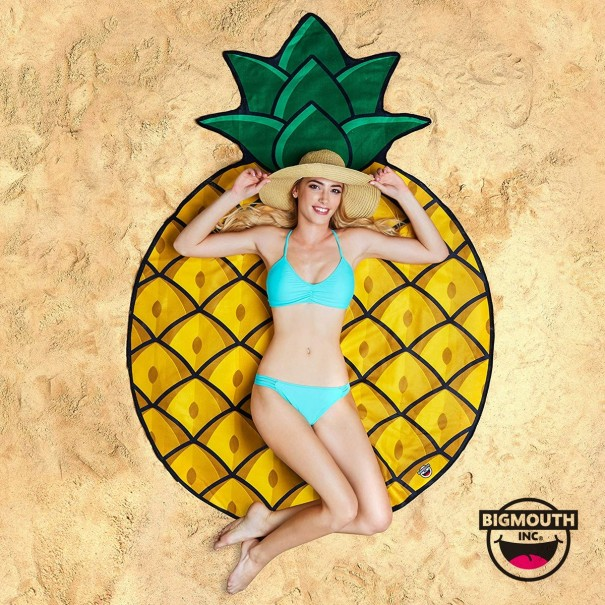 Gigantic Pineapple Beach Towel