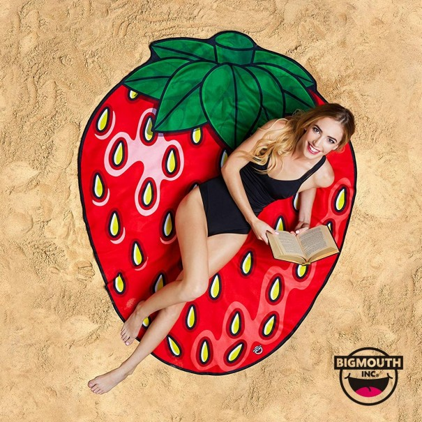 Gigantic Strawberry Beach Towel