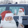 Ride with Santa Car Window Sticker